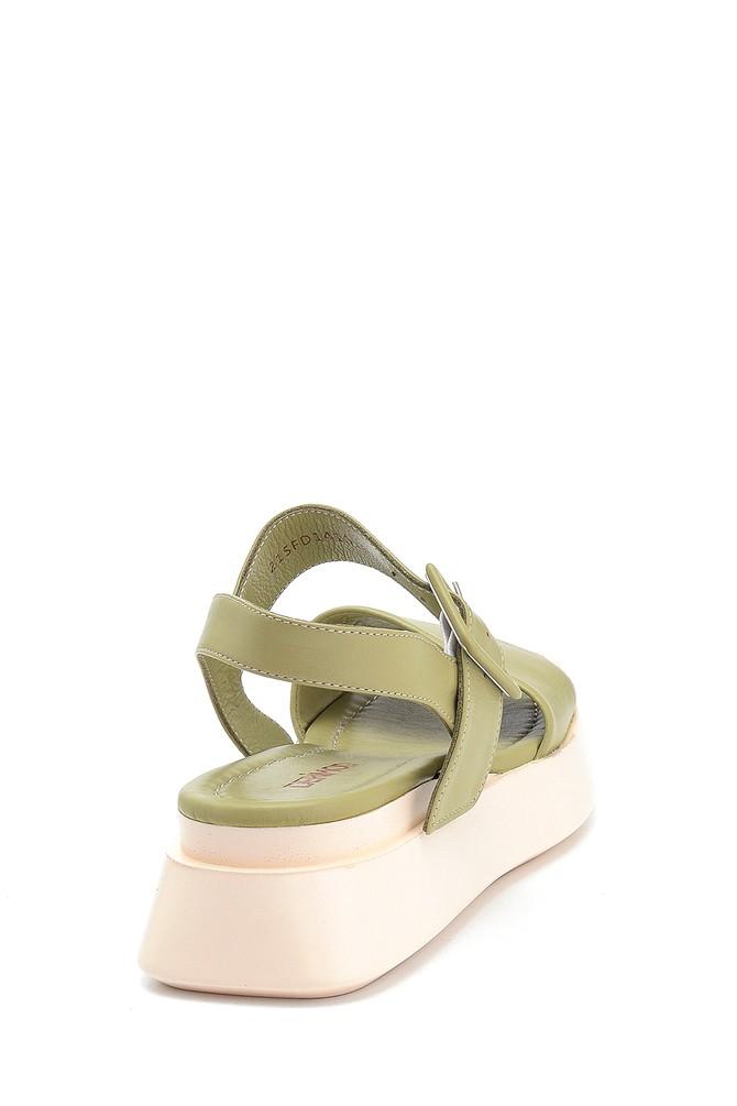 5638312603 Kadın Casual Deri Sandalet
