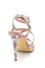 5638263621 Kadın Yılan Baskılı Topuklu Sandalet