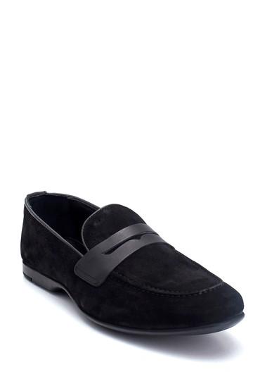 Siyah Erkek Süet Deri Loafer 5638135201