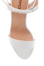 5638162347 Kadın Kalın Topuklu Deri Sandalet