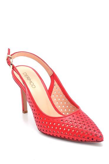 Kırmızı Kadın Deri Stiletto 5638163261