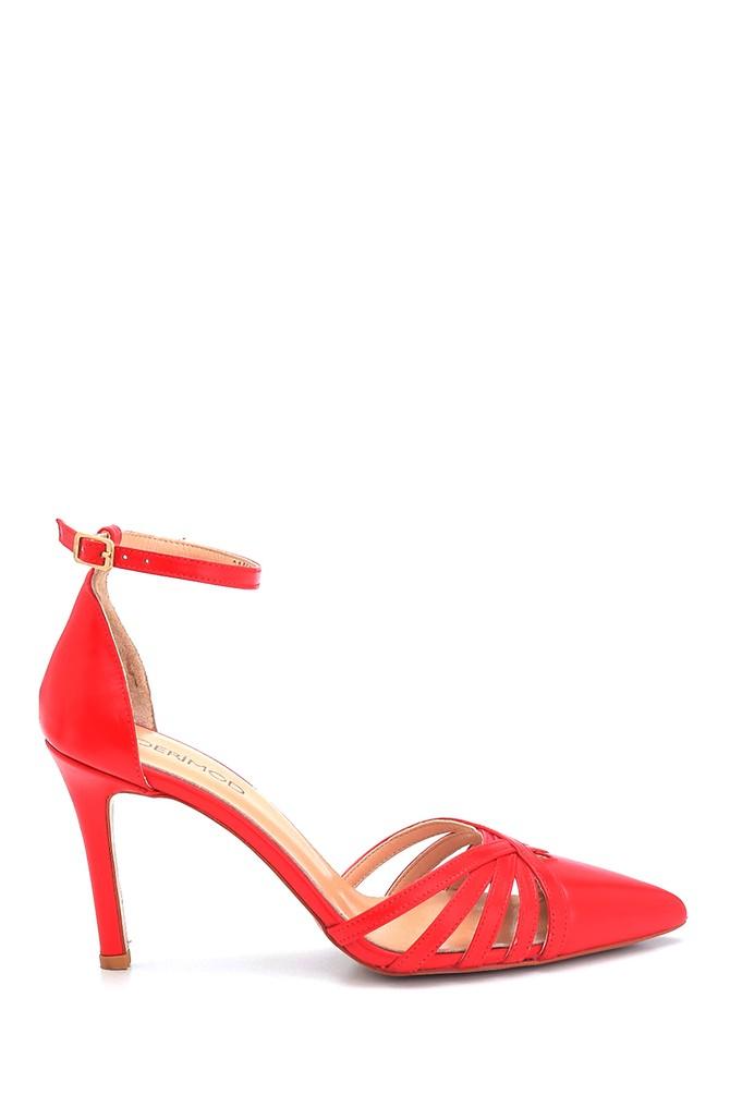 Kırmızı Kadın Deri Stiletto 5638163295