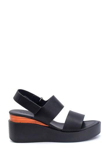 Siyah Kadın Casual Sandalet 5638128814