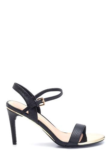 Siyah Kadın Klasik Topuklu Sandalet 5638128968