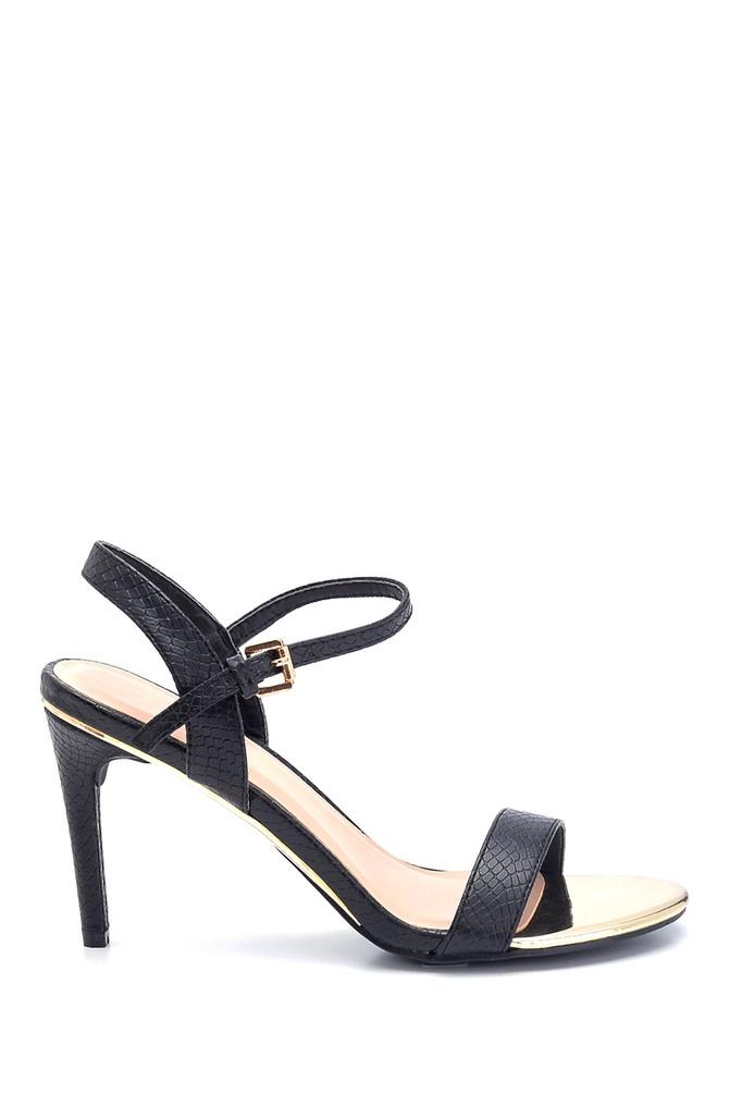 Siyah Kadın Klasik Topuklu Sandalet 5638128972