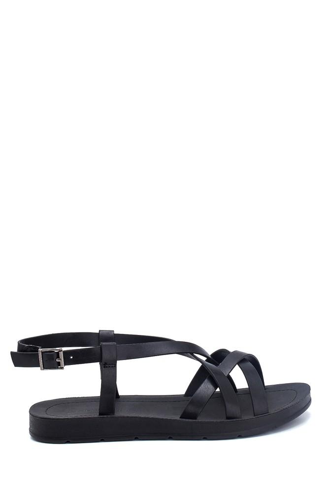 Siyah Kadın Casual Sandalet 5638262326