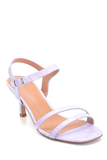 Lila Kadın Casual Topuklu Sandalet 5638263560