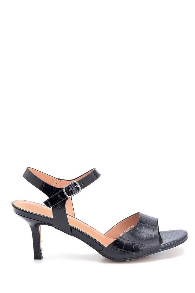 Siyah Kadın Casual Topuklu Sandalet 5638263583