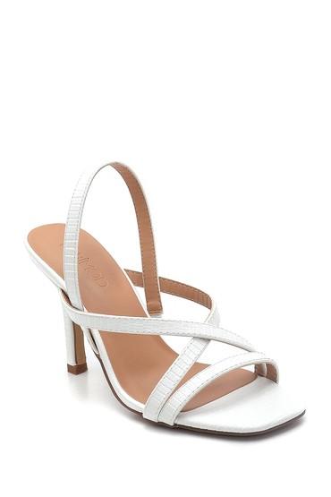 Beyaz Kadın Casual Topuklu Sandalet 5638263660