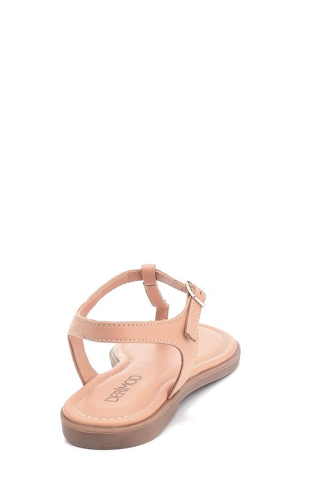 5638266264 Kadın Casual Deri Sandalet