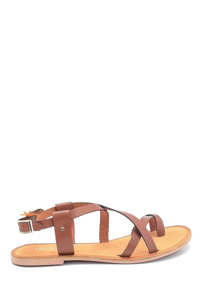 Taba Kadın Casual Deri Sandalet 5638261918