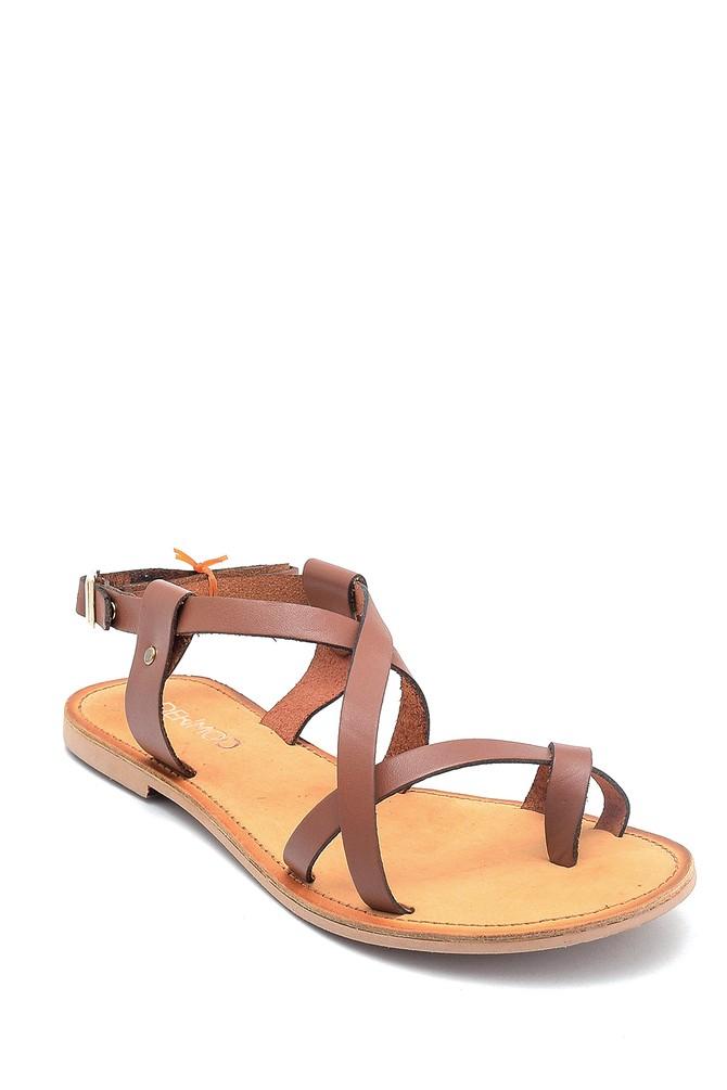 5638261918 Kadın Casual Deri Sandalet