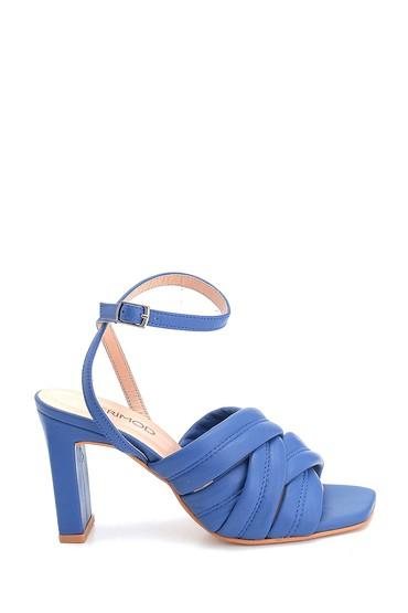 Mavi Kadın Casual Topuklu Deri Sandalet 5638284580