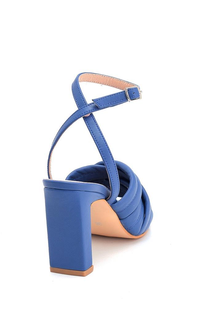5638284580 Kadın Casual Topuklu Deri Sandalet