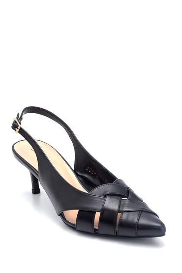 Siyah Kadın Klasik Topuklu Deri Ayakkabı 5638293673