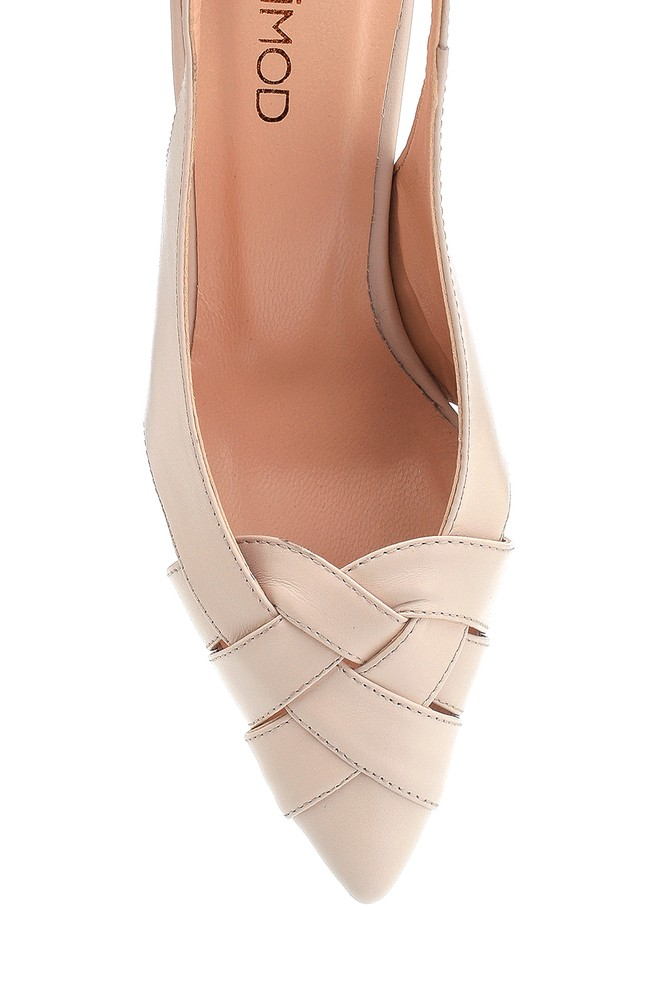 5638293672 Kadın Klasik Topuklu Deri Ayakkabı