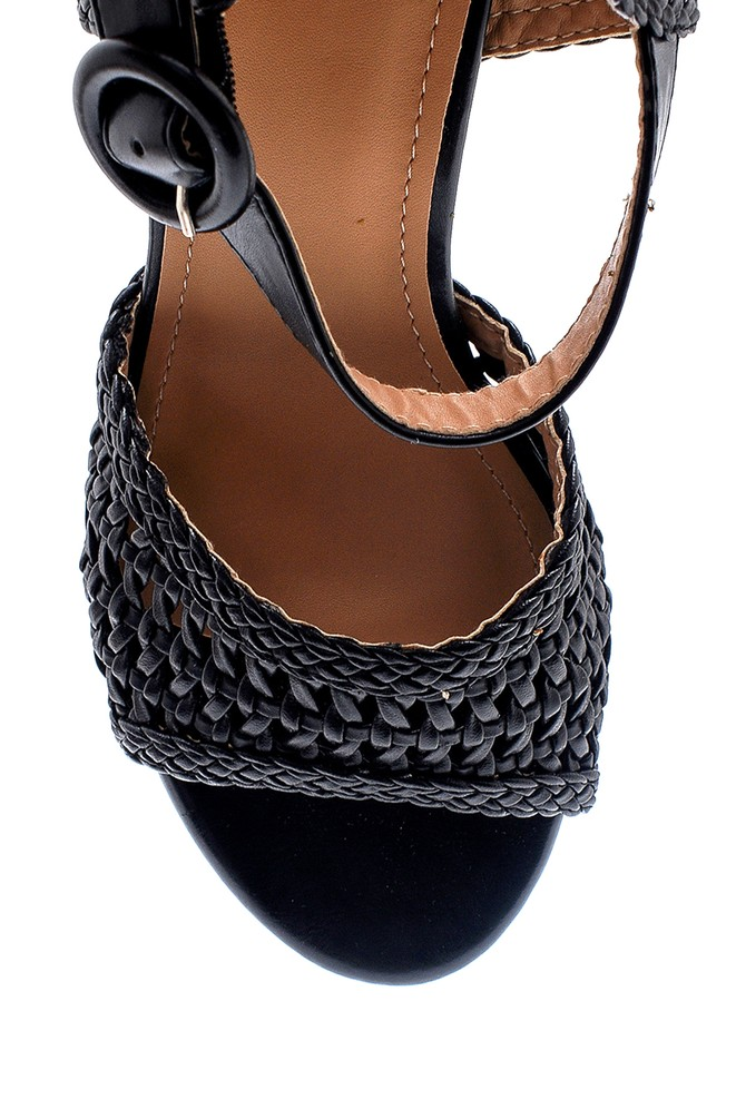5638137665 Kadın Kalın Topuklu Casual Sandalet
