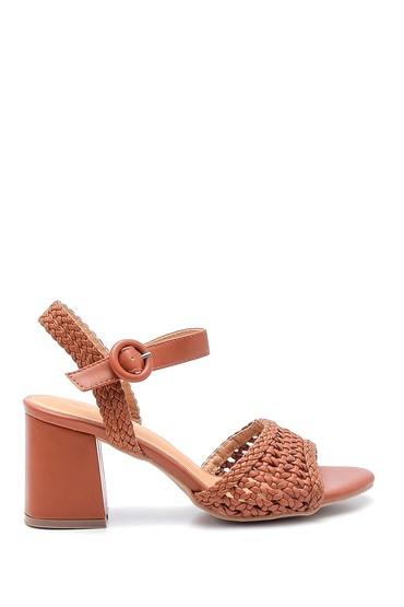 Taba Kadın Kalın Topuklu Casual Sandalet 5638137656