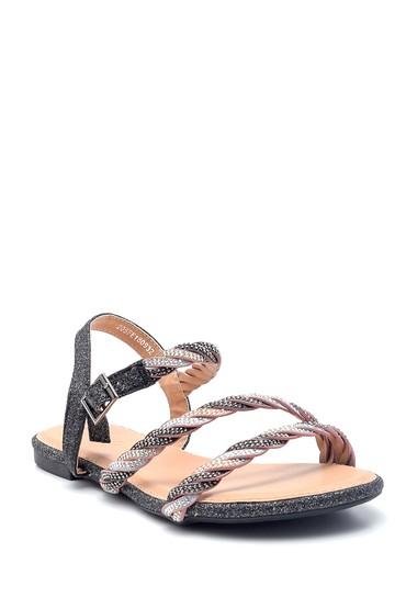 Siyah Kadın Casual Sandalet 5638137384