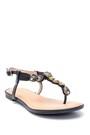 5638137476 Kadın Casual Taş Detaylı Sandalet
