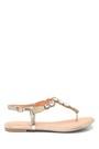 5638137477 Kadın Casual Taş Detaylı Sandalet
