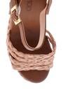 5638137618 Kadın Dolgu Topuklu Hasır Sandalet