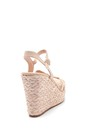 5638137619 Kadın Dolgu Topuklu Hasır Sandalet