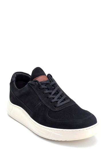 Siyah Erkek Nubuk Deri Sneaker 5638251589