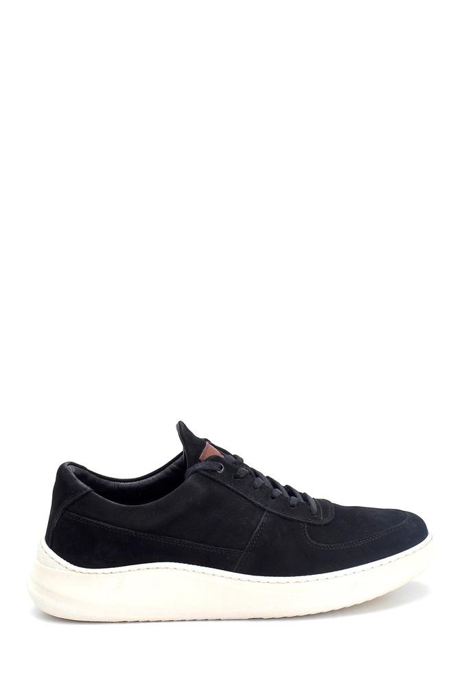 Siyah Erkek Nubuk Deri Sneaker 5638251607