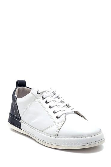 Beyaz Erkek Deri Sneaker 5638252442