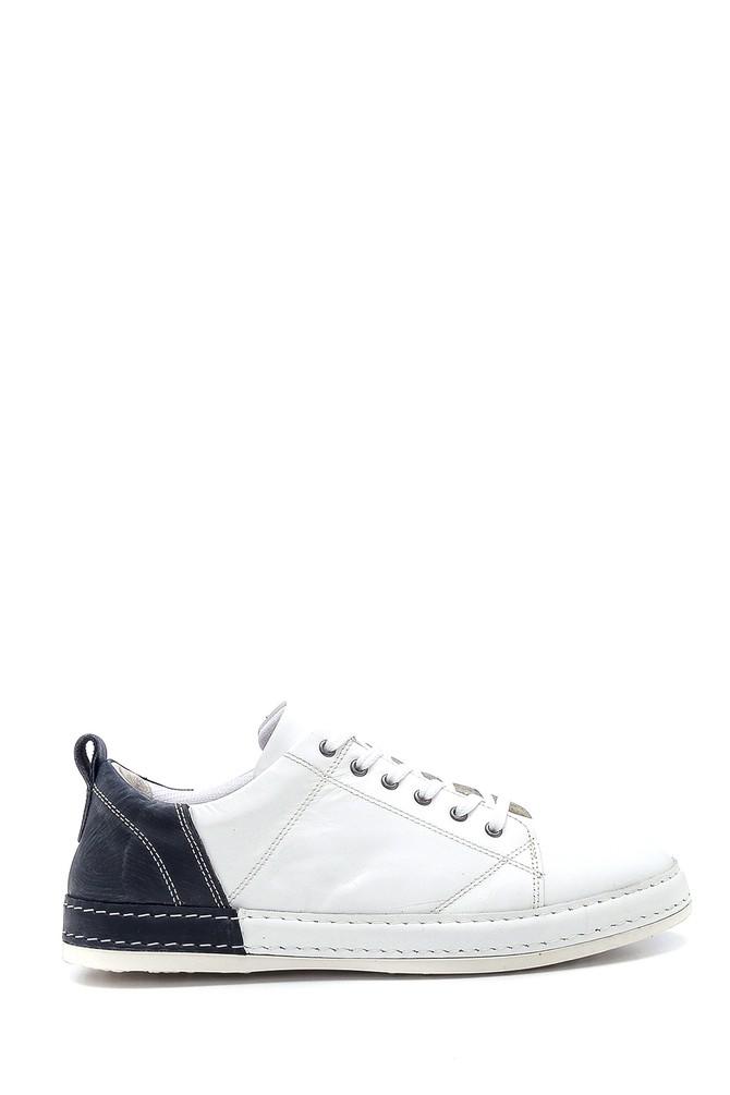 Beyaz Erkek Deri Sneaker 5638252458