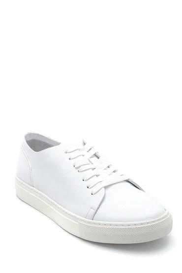 Beyaz Erkek Deri Sneaker 5638253143