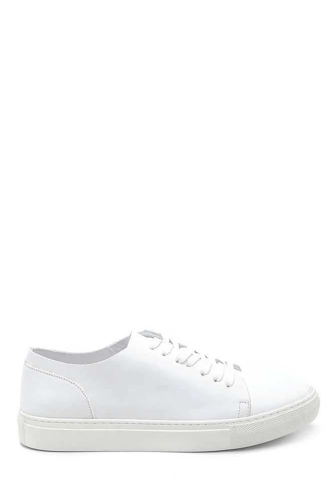 Beyaz Erkek Deri Sneaker 5638253153