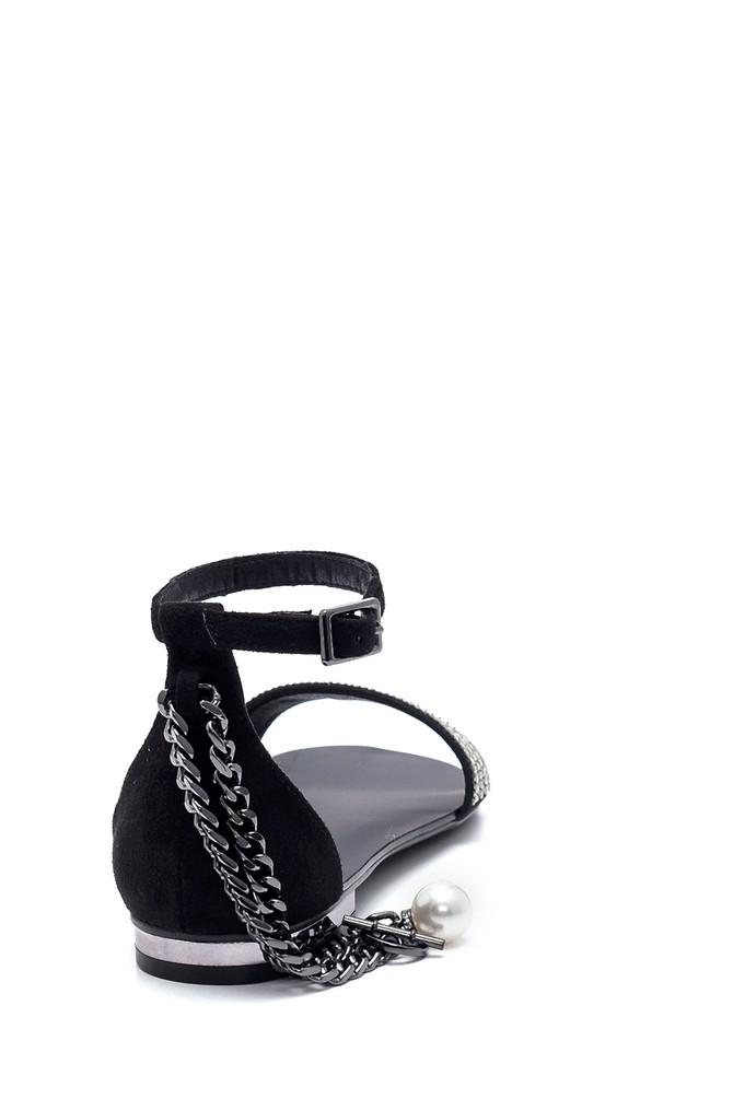 5638255723 Kadın Zincir Detaylı Sandalet