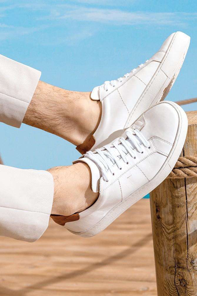 Beyaz Erkek Deri Sneaker 5638275644