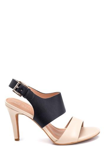 Siyah Kadın Casual Topuklu Sandalet 5638261207