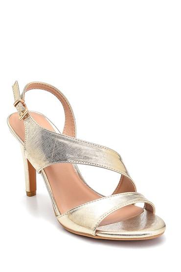 Altın Kadın Casual Sandalet 5638261226