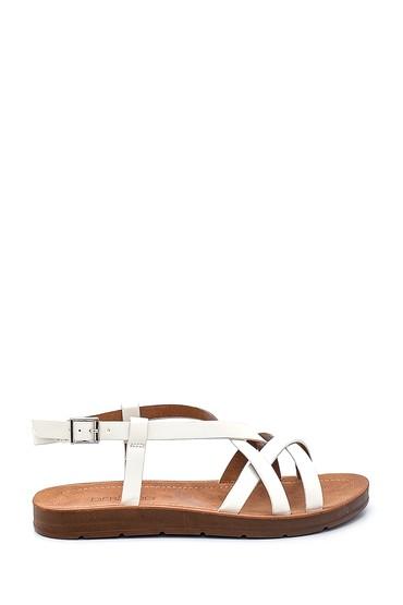 Beyaz Kadın Casual Sandalet 5638262328