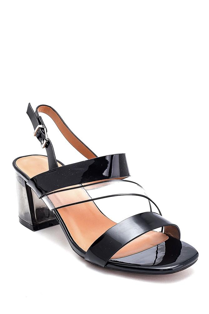 5638262495 Kadın Casual Şeffaf Topuklu Sandalet