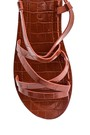 5638263090 Kadın Casual Kroko Desenli Sandalet