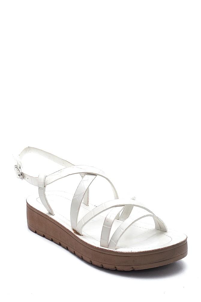 5638263088 Kadın Casual Kroko Desenli Sandalet