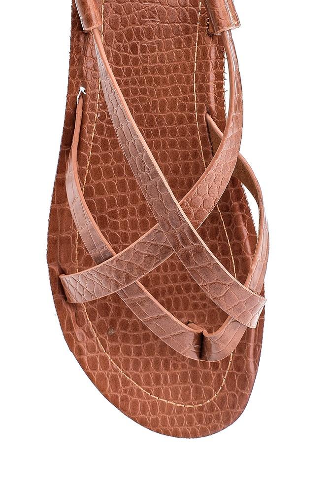 5638263186 Kadın Kroko Baskılı Casual Sandalet