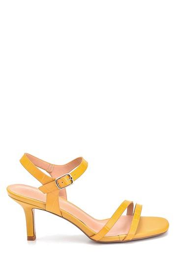Sarı Kadın Casual Topuklu Sandalet 5638263558