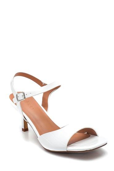 Beyaz Kadın Casual Topuklu Sandalet 5638263584