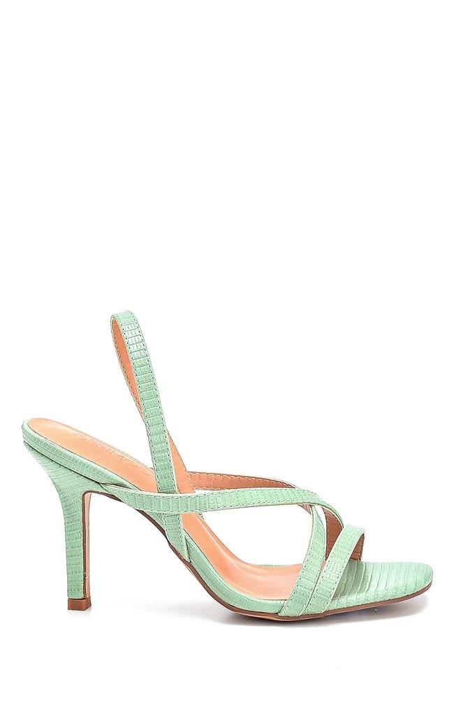 Yeşil Kadın Casual Topuklu Sandalet 5638263666