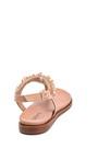 5638266296 Kadın Boncuk Detaylı Deri Sandalet