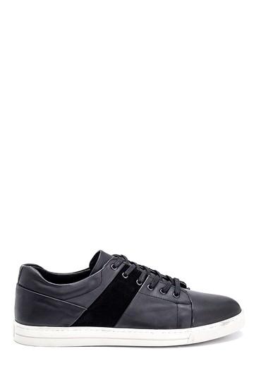 Siyah Erkek Deri Sneaker 5638252427