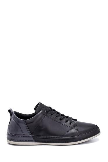 Siyah Erkek Deri Sneaker 5638252441