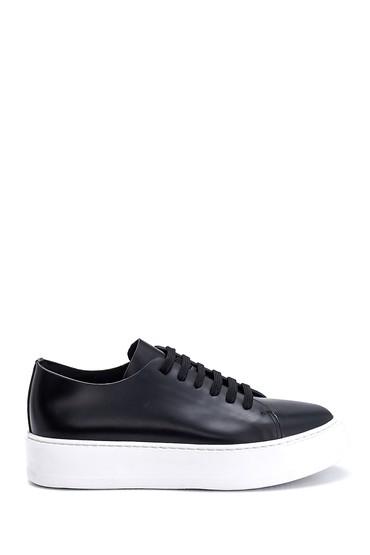 Siyah Erkek Deri Sneaker 5638275558