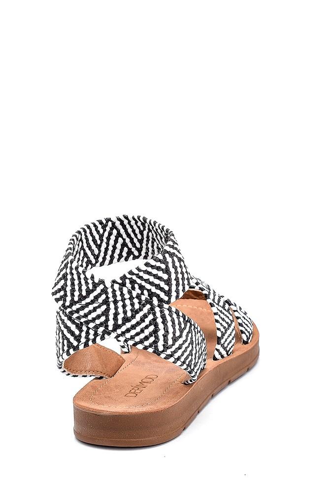 5638262272 Kadın Kumaş Detaylı Sandalet